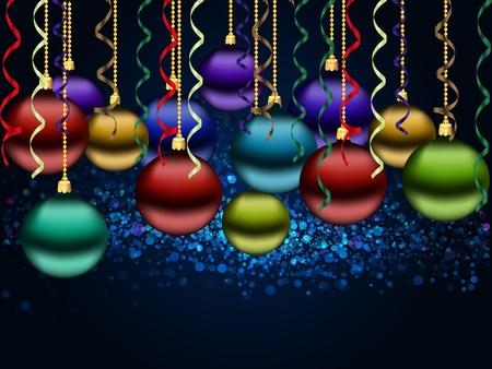 glitter ball: Christmas background