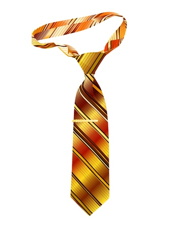 ironed: Tie on a white background