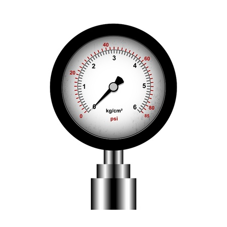 manometer: manometer isolated on a white background, vector