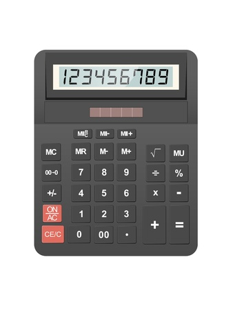 calculator icon isolated on white background, vector Stock Vector - 11062255