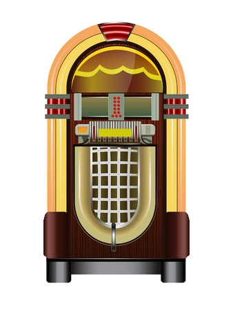 jukebox isolated on a white background Vector