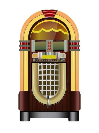 jukebox isolato su uno sfondo bianco Vettoriali