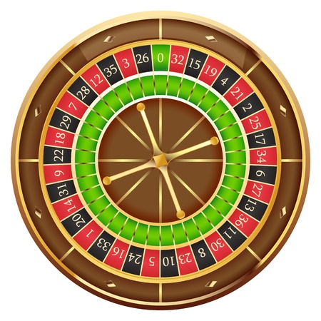 roulette: Ruota della fortuna Vettoriali
