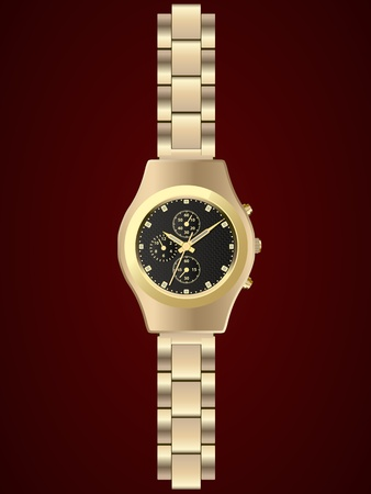gold watch, vector Vector