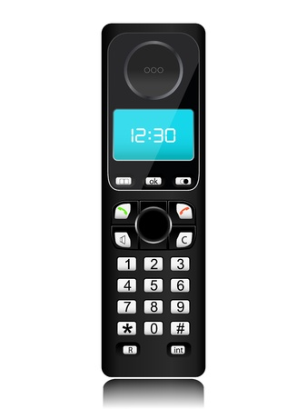 cordless: cordless phone isolated on a white background Illustration