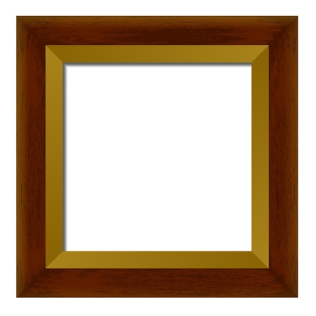 Wooden Frame For Painting Or Picture On A White Background Royalty ...