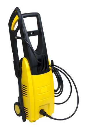 portable pressure washer isolated over white background Banque d'images