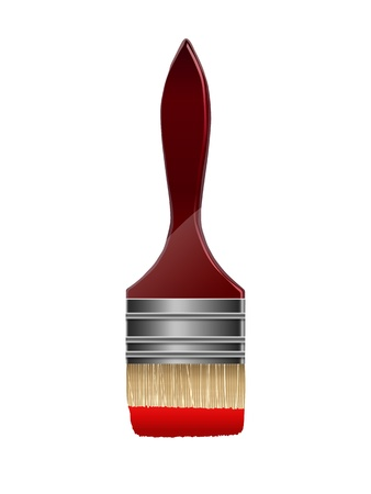 redecorate: Paint brush isolated on a white background, vector