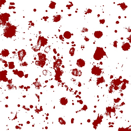 murdering: blood splatters, vector