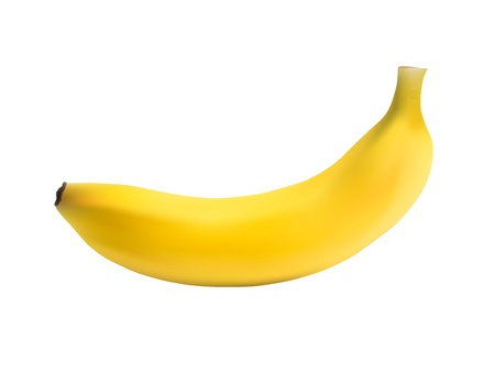 Photo Realistic Banana Isolated on White Vector