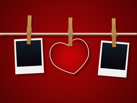 develop: Photo Frames And Heart On Rope