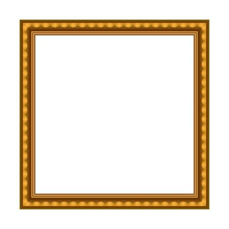 Vector Stylish Gold Frame