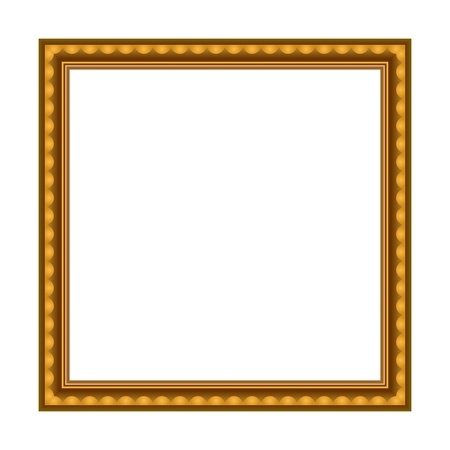 simple frame: Vector Stylish Gold Frame