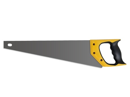 coping: hand saw isolated on a white background, vector Illustration