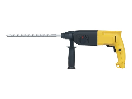 drill bit: rotary hammer on a white background Illustration