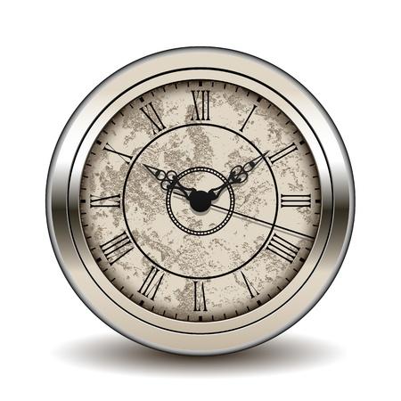 wijzerplaat: Antieke klok Stock Illustratie