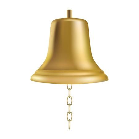 gold chain: Golden ships bell