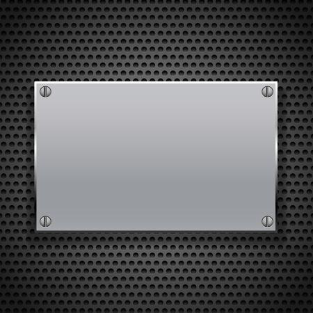 metal grate: metallic plaque for signage