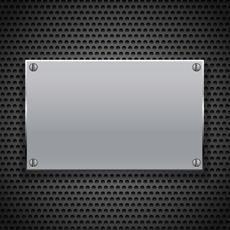 placca metallica per segnaletica Vettoriali