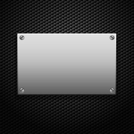 placa bacteriana: la placa metálica para la señalización