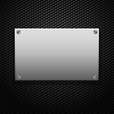 platin: metallic Plakette f�r Signage