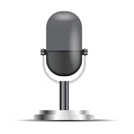 microfono de radio: Micr�fono retro