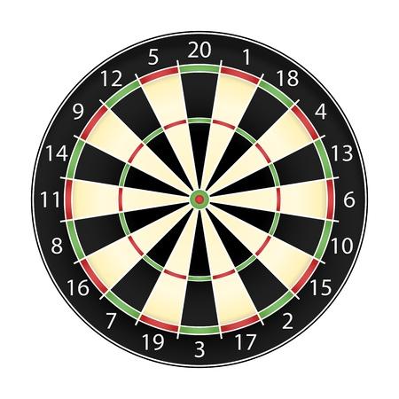 Dart board over white background, realistic vector illustration eps10 Stock Vector - 13058192
