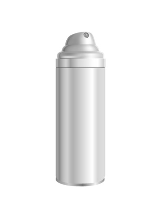 tinplate: spray can isolated on white Illustration