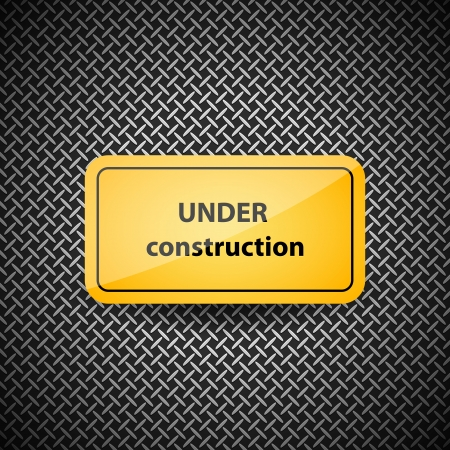 Under construction sign, eps10 Иллюстрация