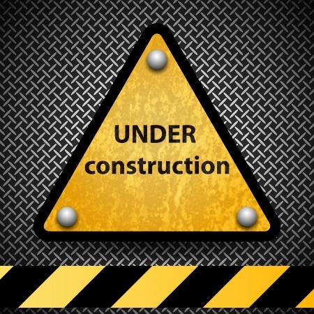 panneaux danger: Sous le signe de la construction Illustration