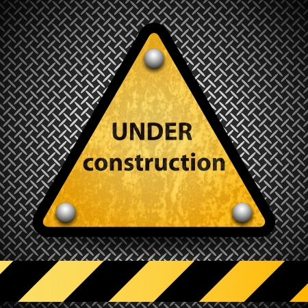 safety signs: Under construction sign