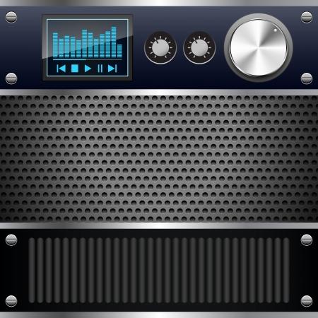 Hi-fi control deck Vector