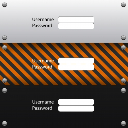 login interface, Vector