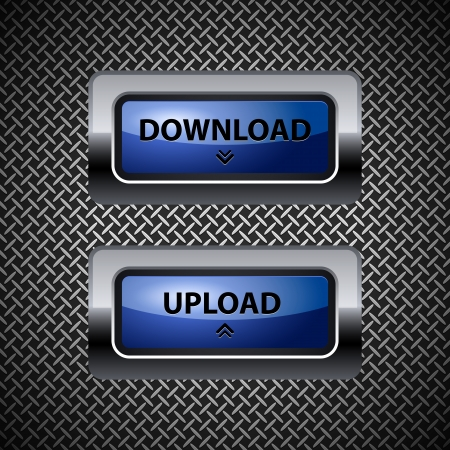 download button: download and upload buttons
