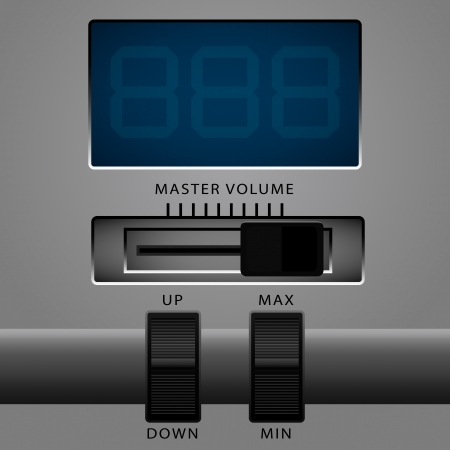 master volume: control panel and screen