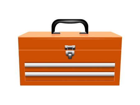Yellow metal toolbox Иллюстрация