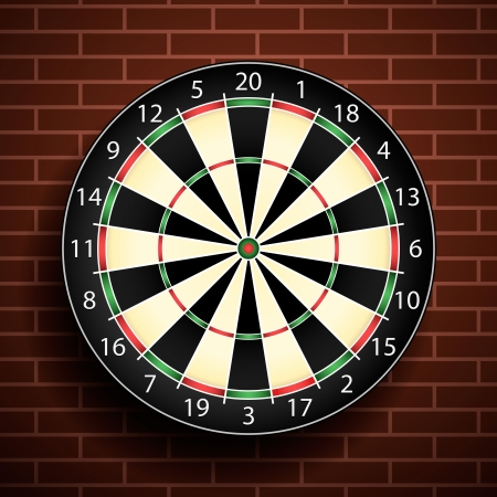 Dart board Stock Vector - 16807628