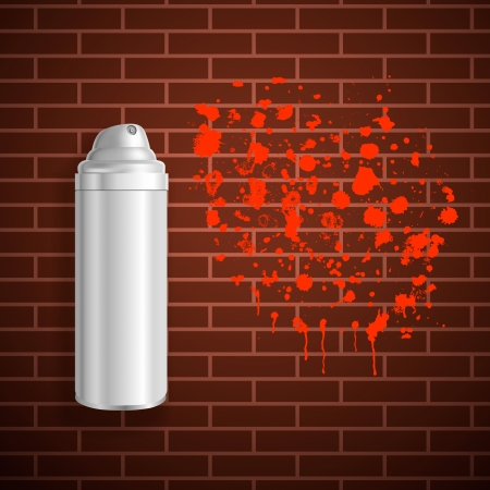 aerosol can: spray paint Illustration
