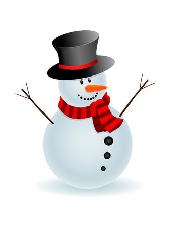 Muñeco de nieve Ilustración de vector