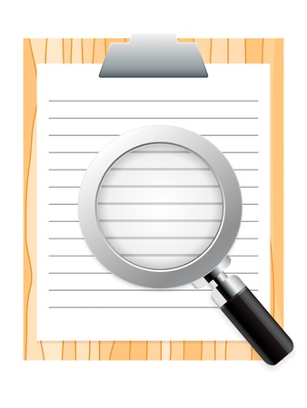 clipboard and magnifying glass Stock Vector - 16911183