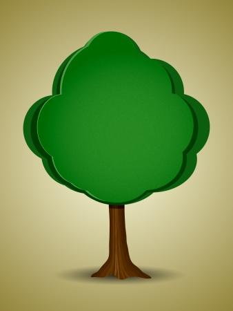 arboles de caricatura: caricatura árbol Vectores