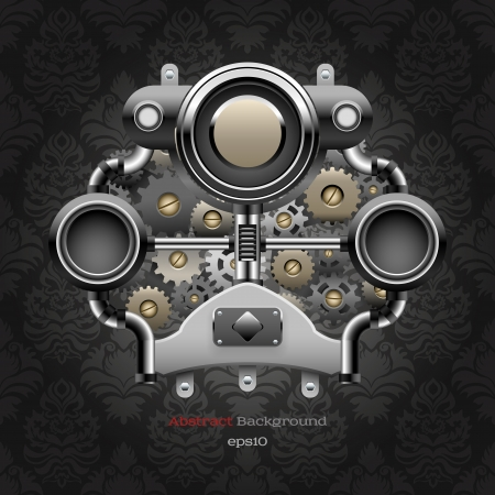 industry pattern: Industrial abstract background Illustration