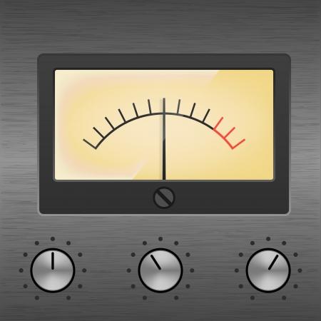 decibel: decibel meter Illustration