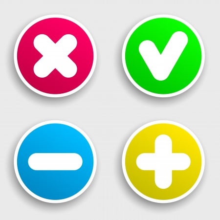 satined: Four colorful sticker