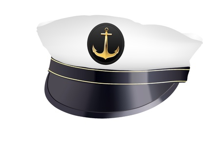 sailor hat: captain hat with cockade