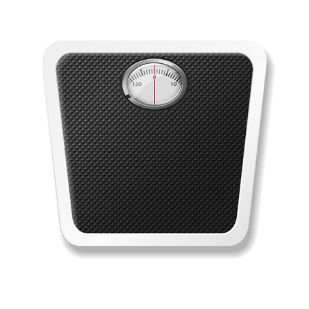 bathroom scale, eps10 Vector