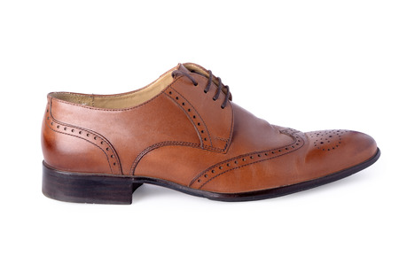 brogues: brogues shoes on a white background Stock Photo