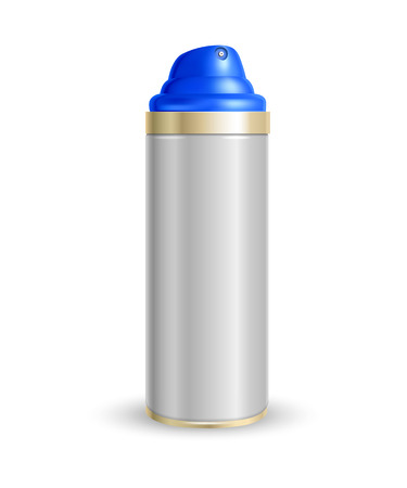 propellant: spray can on a white