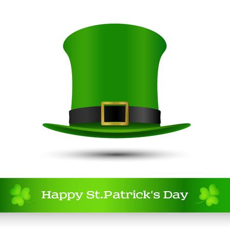 hatter: St. Patricks day green hat of a leprechaun