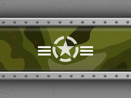 estrellas  de militares: formaci�n militar Vectores